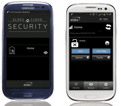 ELDES Cloud Security per Android